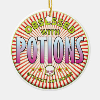 Potions Obsessed R Round Ceramic Decoration