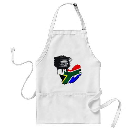 Potjiekos lovers South African flag gifts Apron