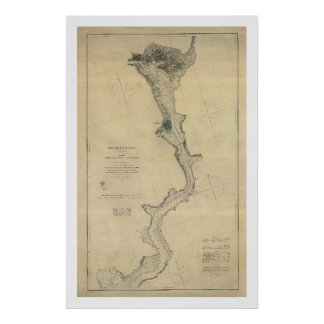 Potomac River Map Washington DC - 1864 Poster