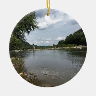 Potomac River through Harpers Ferry, WVA Ceramic Ornament
