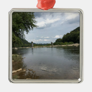 Potomac River through Harpers Ferry, WVA Metal Ornament