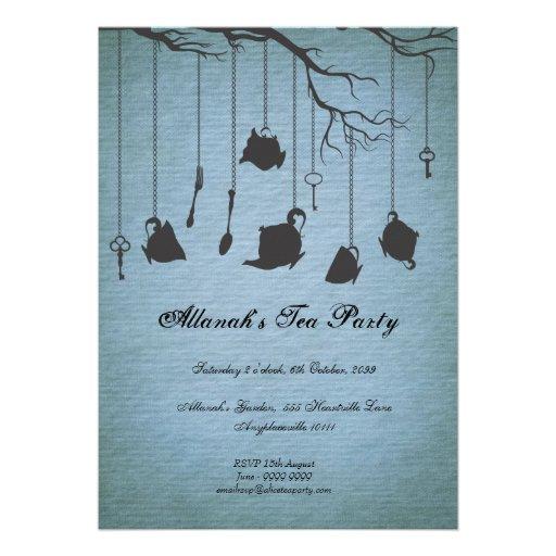 Pots & Cups & Keys Unbirthday Birthday Tea Party Card