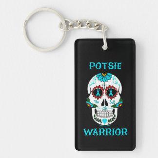 POTSIE WARRIOR sugar skull Key Ring
