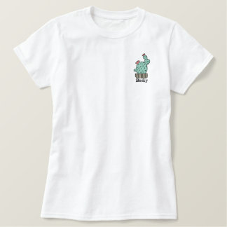 potted cactus Personalized Embroidered Shirt