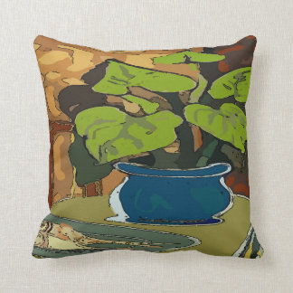 Potted Plant and fish Cushion