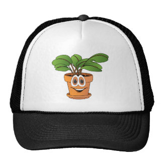 Potted Plant Cartoon Mesh Hats