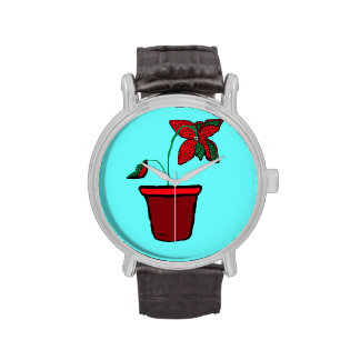 Potted Plant Wrist Watches