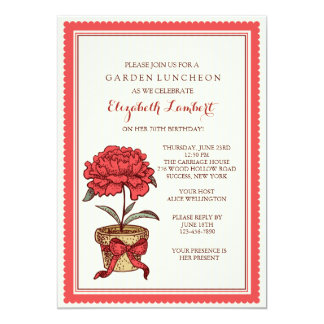 Potted Plant Invitation
