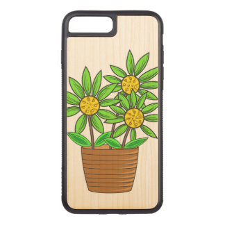 Potted Sunflowers Carved iPhone 8 Plus/7 Plus Case