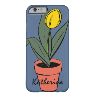 Potted Terracotta Yellow Spring Tulip Bloom Plant Barely There iPhone 6 Case