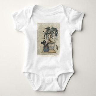 Potted Wisteria - Eisen Ikeda - 1818 - woodcut Baby Bodysuit