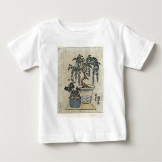 Potted Wisteria - Eisen Ikeda - 1818 - woodcut Baby T-Shirt