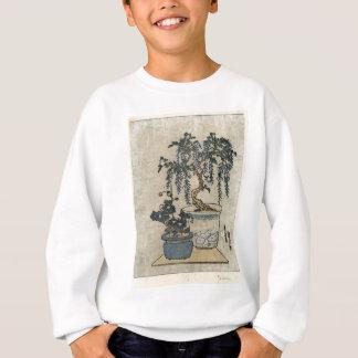 Potted Wisteria - Eisen Ikeda - 1818 - woodcut Sweatshirt