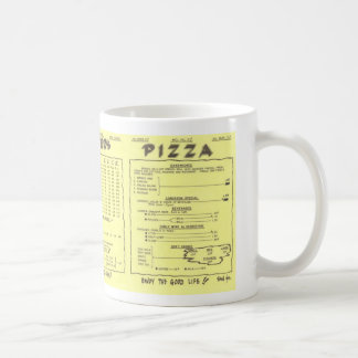 Potter's Pizza Menu Mug