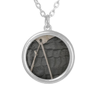 Pottery Design Silver Plated Necklace