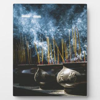 Pottery Incense Plaque