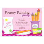 Pottery Painting Party Invitations