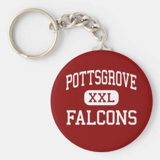 Pottsgrove - Falcons - High - Pottstown Basic Round Button Key Ring