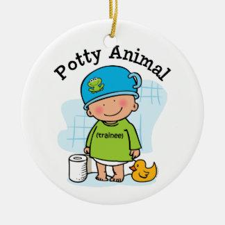Potty Animal Boy Ornament