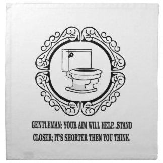 potty joke male parts napkin