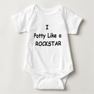 Potty Like a Rockstar Baby Bodysuit