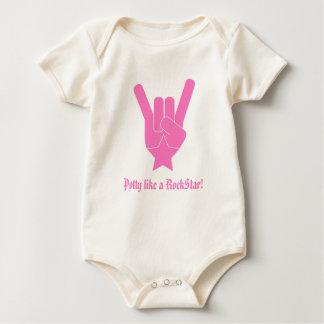 Potty like a RockStar! Baby Bodysuit