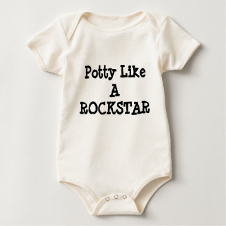 Potty Like A ROCKSTAR infant onsie Baby Bodysuit