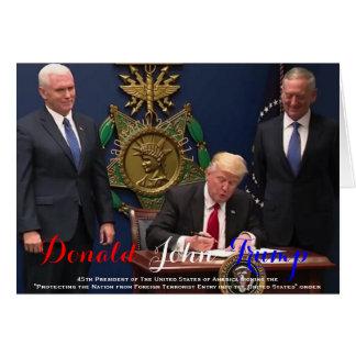 POTUS Donald Trump signing The Protecting Order Card