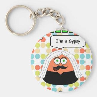 Pou Gypsy Basic Button Keychain Keychains