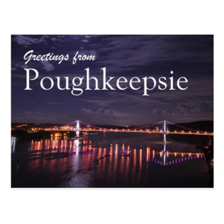 Poughkeepsie at night postcard
