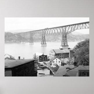 Poughkeepsie Bridge, 1904 Poster