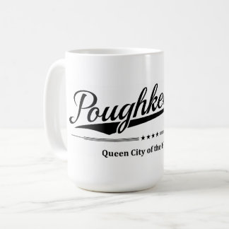 Poughkeepsie - Queen City of the Hudson - Black Coffee Mug