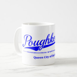 Poughkeepsie - Queen City of the Hudson - Blue Coffee Mug