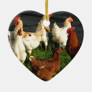 Poultry Ceramic Heart Decoration