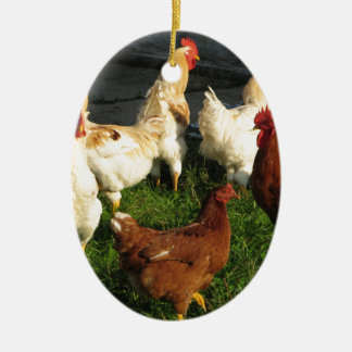 Poultry Ceramic Oval Decoration