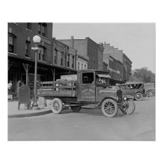 Poultry Delivery Truck, 1926 Print