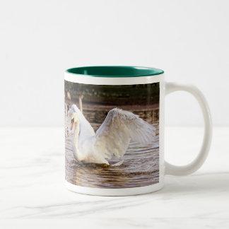 Poultry lover's swan green mug