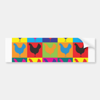 Poultry Pop Art Bumper Sticker