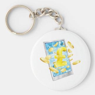 Pound money phone concept keychains
