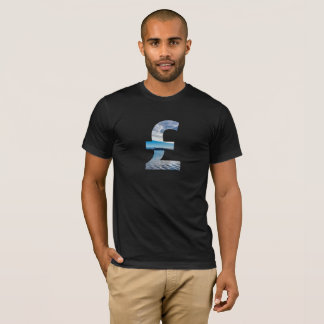 Pound Sterling Sea Background Fashion T-Shirt