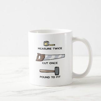 Pound To Fit Classic White Coffee Mug