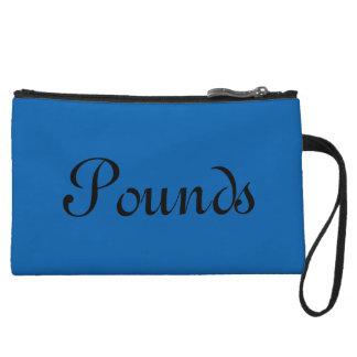 Pounds, Blue Wristlet Clutch