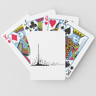 Pouring Musical Notes Bicycle Playing Cards