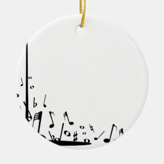 Pouring Musical Notes Ceramic Ornament