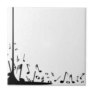 Pouring Musical Notes Ceramic Tile
