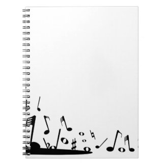 Pouring Musical Notes Notebook