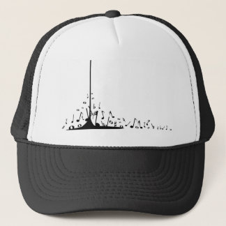 Pouring Musical Notes Trucker Hat