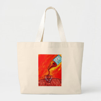 Pouring Whiskey Large Tote Bag