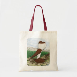 Pouter Pigeon Red Hana Budget Tote Bag