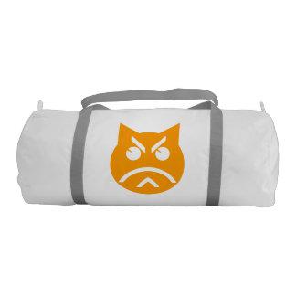 Pouting Emoji Cat Gym Duffel Bag